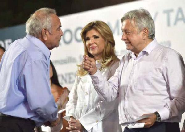 El presidente Andrés Manuel López Obrador estuvo en Hermosillo, Sonora, donde lo acompañó la gobernadora Claudia Pavlovich. FOTO: ESPECIAL