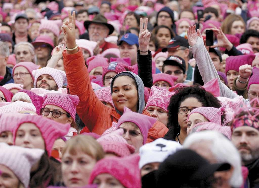La gente se reunió para una Marcha de Mujeres en Washington, EU, 21 de enero de 2017.FOTO: ESPECIAL