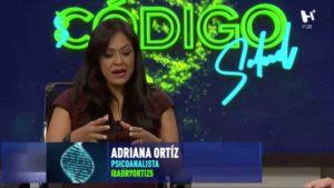 Adriana Ortíz en el foro de Código Salud